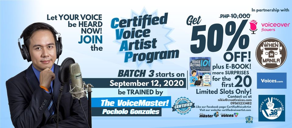 """Be A Certified Voice Artist..."